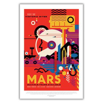 Mars: Visit the Historic Sites - NASA JPL Space Tourism Poster