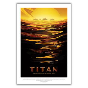 Titan: Ride the Tides Through the Throat of Kraken - NASA JPL Space Travel Poster