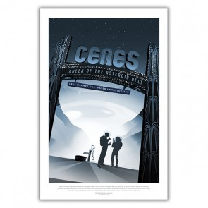 Ceres: Queen of the Astroid Belt - NASA JPL Space Tourism Poster