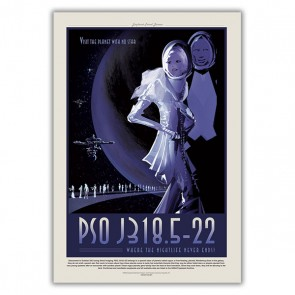 PSO J318.5-22 - Visit the Planet with No Star, Where the Nightlife Never Ends - NASA JPL Space Tourism Poster