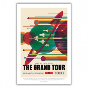 The Grand Tour: A Once in a Lifetime Getaway - NASA JPL Space Tourism Poster